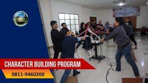 Paket Outbound Training Character Building Program untuk perusahaan murah